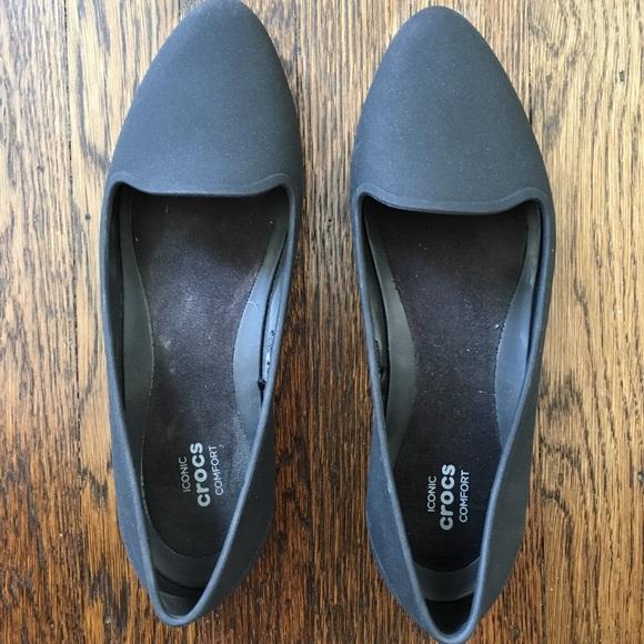 7c7071260bf666 CROCS Shoes - Crocs Eve Flats Black